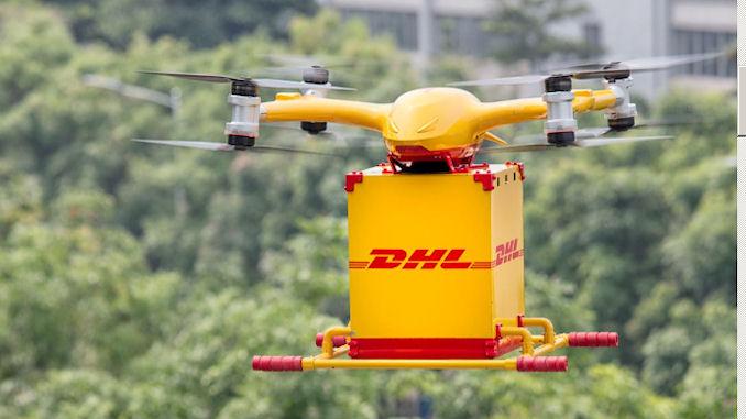 livraison par drone urbain @clesdudigital